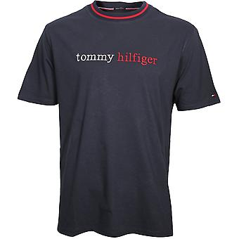 Tommy Hilfiger Remix Logo Organic Cotton T-Shirt, Navy