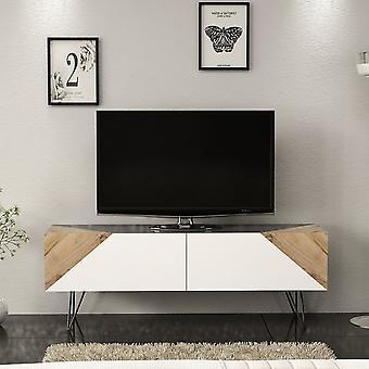 Mobile Porta TV Selene Color Bianco, Noce, Antracite in Truciolare Melaminico 144x35x50 cm