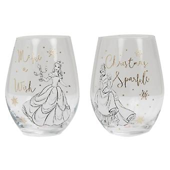 Disney Belle & Cinderella Collectible Set of 2 Glasses