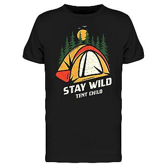 Stay Wild Tent Child Tee Men's -Image by Shutterstock