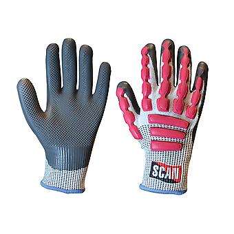 Scan Anti-Impact Latex Cut 5 Gloves - Large (Size 9)