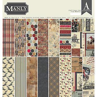Authentique مانلي 12x12 بوصة ورقة وسادة