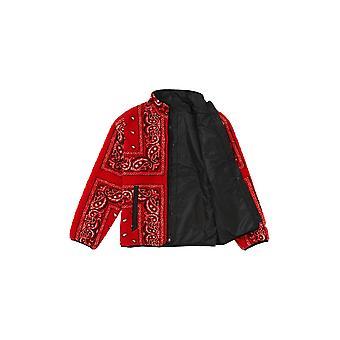 Supreme Reversible Bandana Fleece Jacket Red - Clothing
