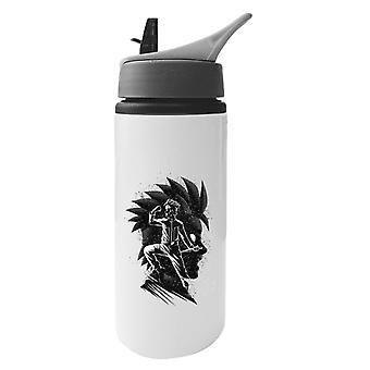 Gogeta Inking Fusion Attack Dragon Ball Z Aluminium Water Bottle With Straw