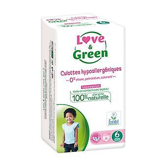 Love & Green Culottes Hypoallergà © niques T6x16 16 units