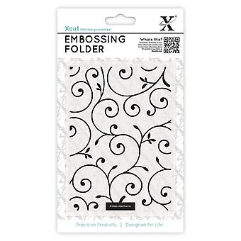 Xcut A6 Embossing Folder - Delicate Flourishes
