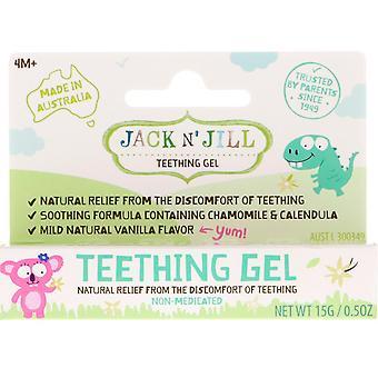 Jack n' Jill, Teething Gel, 4+ Months, Vanilla, 0.5 oz (15 g)