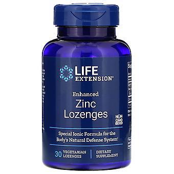 Extensión de vida, pastillas de zinc mejoradas, 30 pastillas vegetarianas