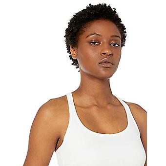 Marque - Mae Women's Cotton Modal Lounge Tank, Blanc, Large