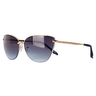 نظارات شمسية Unisex Cat.2 الذهب / الدخان الأزرق (aml19013a)