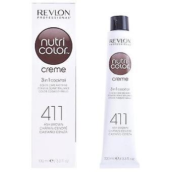 Tub Revlon Nutri Color Creme 411 Ash Brown 100 ml