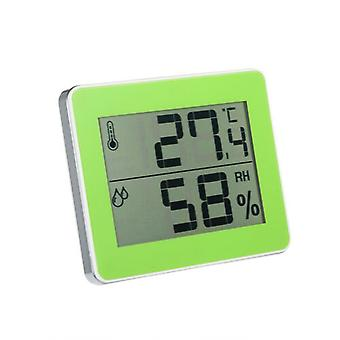 Household Electronic Digital Thermometer and Hygrometer Green