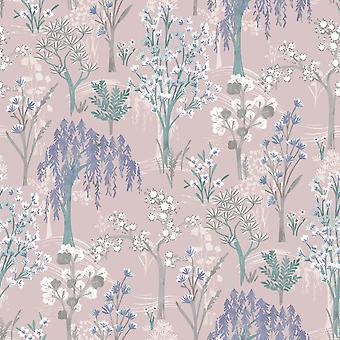 Kieder Oriental Wallpaper Pink Holden 91130