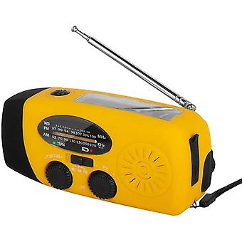 1000mah Solar Emergency Radio - Am,fm,wb Weather Radio, Hand Crank Radio With 3