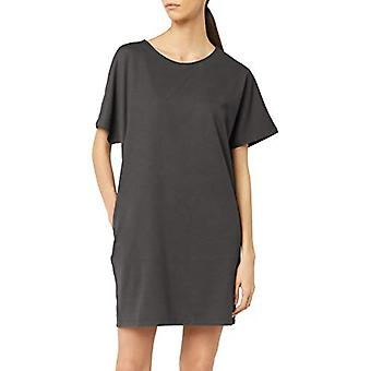 Meraki Women's Loose Fit Short Sleeve Shift Klänning med fickor, kol, EU ...