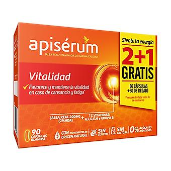 حر حيوية 2 + 1 apiserum حزمة 90 كبسولة