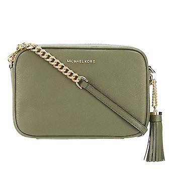 MICHAEL Michael Kors Ginny Leather Crossbody Bag Army Green