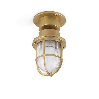 1 Lichte buitenvoetstuk Licht Messing IP44, E27