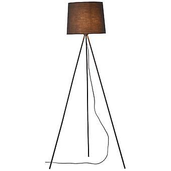 BRILLIANT Lampa Ailey GolvLampa Trebent Svart | 1x A60, E27, 60W, lämplig för normala lampor (medföljer ej) |