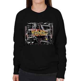Back to the Future Delorean Montage Women's Sweatshirt