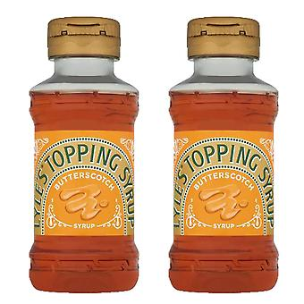 2 x 325g Lyles Golden Syrup Squeezy Butterscotch Topping Pancake Baking Porridge