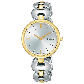 Pulsar Damska sukienka bransoletka srebra Dial 50M Zegarek (Nr modelu. PM2264X1)