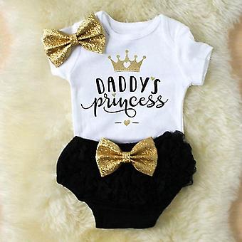 Cute Newborn Baby Outfits Clothes Tops Bodysuit Shorts Pants Set
