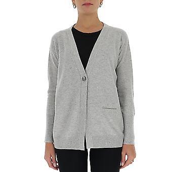 Fabiana Filippi Mad220w040n1288149 Women's Grey Wool Cardigan