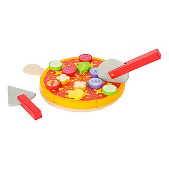 Legler Small Foot Children's Wooden Cuttable Pizza Toy Play Set (11063)