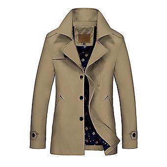 Allthemen Men's Solid Autumn Coat Windbreaker Casual 3 button Lapel Jacket