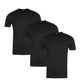 DSquared2 3 Pack Black T-Shirts