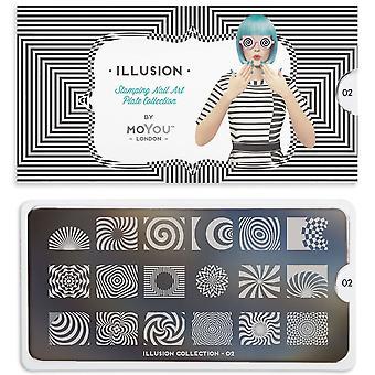 MoYou London Nail Art Image Plate - Illusion 02 (mpill02)