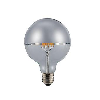 6W E27 Crown Silver Led