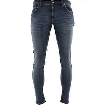 Nudie Jeans Blue Tight Terry Steel Navy Jean
