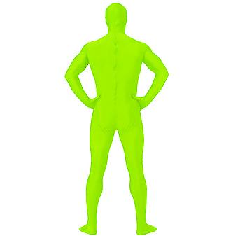 AltSkin Adult/Kids Full Body Stretch Fabric Zentai Suit - Zippered Back One Piece Stretch Suit Costume - Highlighter