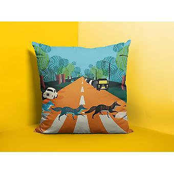 Abbey road foxes london cushion/pillow