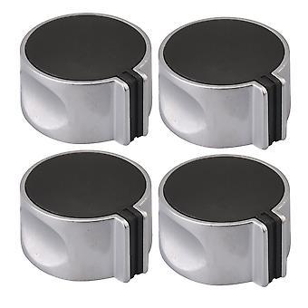 Sølv 2Pair 8mm Aksel Core 45 graders metal gas komfur runde knop