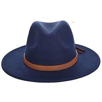 المرأة واسعة بريم الصوف شعر الجاز فيدورا بنما نمط Trilby المقامر قبعة