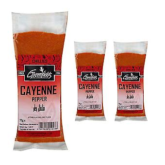 3 x 75g Packet Ground Cayenne Pepper Powder Suitable for cooking