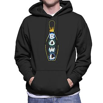 De Big Lebowski Bowl Neon Pin Men's Hooded Sweatshirt