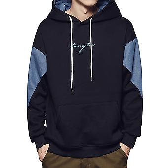 Yunyun Men's Thin Simple Pullover Hooded Casual Soft Loose Fit Sweater