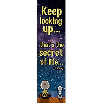 Peanuts Keep Looking Up Vertical Banner