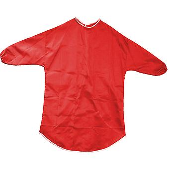 Childrens red long sleeved 75cm play apron ages 7-8