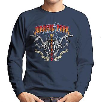 Jurassic Park Rock Band Lightning Raptor Symmetrie Männer's Sweatshirt
