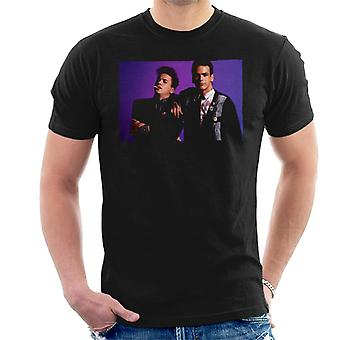Weird Science Ian And Max Purple Background Men's T-Shirt