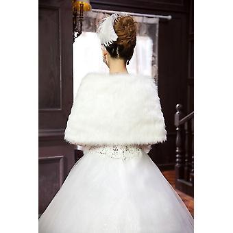 Winter Wrap Warm Faux Fur Stoles Bridal Coat