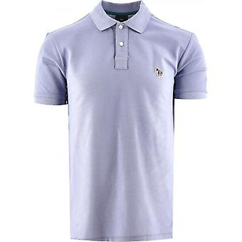 Paul Smith Azul Pálido Regular Fit Camisa polo de manga curta