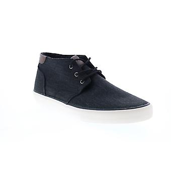 Andrew Marc Walton  Mens Black Canvas Lifestyle Sneakers Shoes