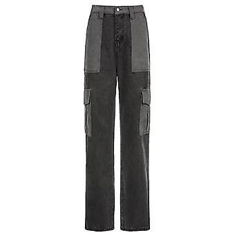 Vintage Streetwear High Waisted Y2k Cargo Pants Coréen Denim Jeans