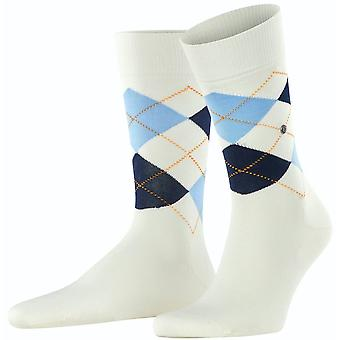 Burlington Manchester Socks - Off-White Candy
